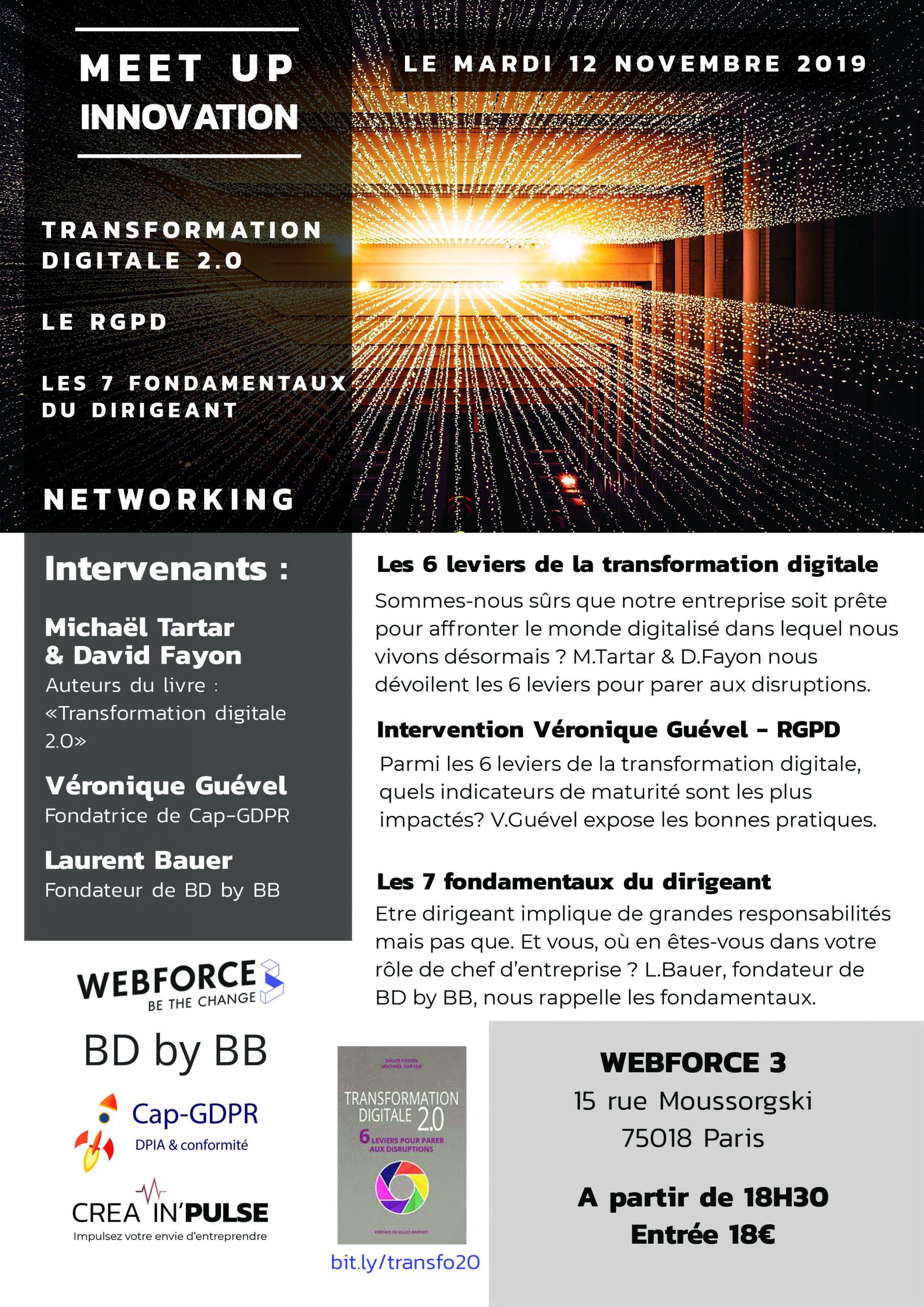 Flyer du 12 novembre - Meetup